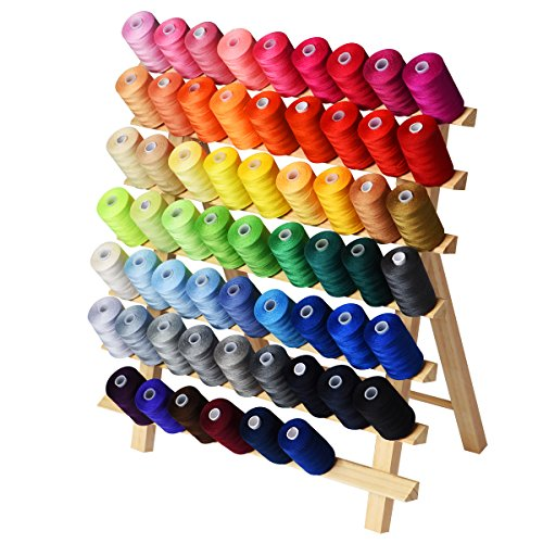 60 Color Polyester Sewing Thread 1000Y per Spool Rainbow Series,