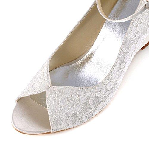 Femme cheville Ivoire de danse mariage WP1415 ElegantPark Chaussures mariee Escarpins bride wIgxqxtp1O