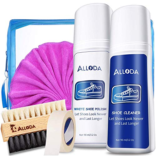 Shoe Cleaner+Shoe whitener, Sneaker Cleaner, Brush-Shoe Cleaning Kit, Alloda (white)