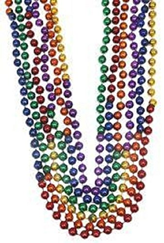 Sectional Shower - Mardi Gras, Sectional Rainbow Beads, 10 mm, 48