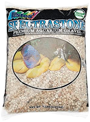 Spectrastone Ocean Beach Pebble for Freshwater Aquariums, 5-Pound Bag by Estes Gravel Products
