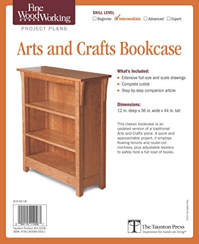 Fine Woodworking's Arts and Crafts Bookcase - Plans Arts Crafts Woodworking