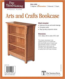 Amazon Com Fine Woodworking S Arts And Crafts Bookcase Plan 0094115110587 Editors Of Fine Woodworking Books