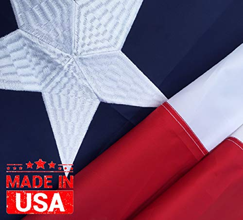 Winbee Texas State Flag 2x3 Ft - 100% US Made - Embroidered Stars, Sewn Stripes and Long Lasting 300D Nylon, UV Protected, Texas Flag 2x3 Outdoor, Premium Flags Texas 300D Flag