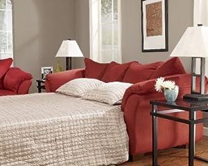 Amazoncom Ashley 7500136 Darcy Salsa Full Sleeper Sofa Kitchen