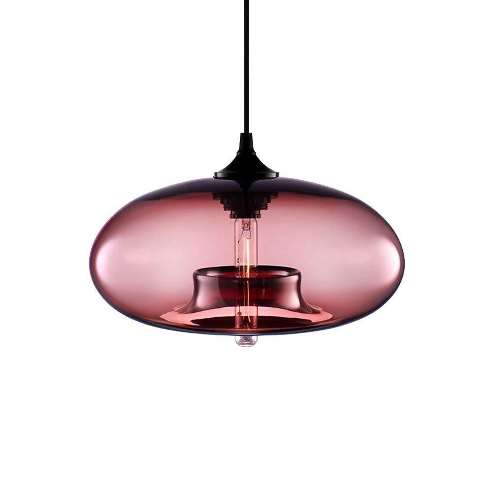 Cozyle Modern Design Pendant Hanging Light Glass Shades Amber HomeTell