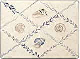 Nina Campbell Shell Blue, Set of 4 Small Placemats (8.5