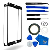 Front Glass for Samsung Galaxy Note 5 N920 Series Black Display Touchscreen incl 12 pcs Tool Kit / Pre-cut Sticker / Tweezers/ Roll of 2mm Adhesive Tape / Suction Cup / Metal Wire / Microfiber cleaning cloth MMOBIEL