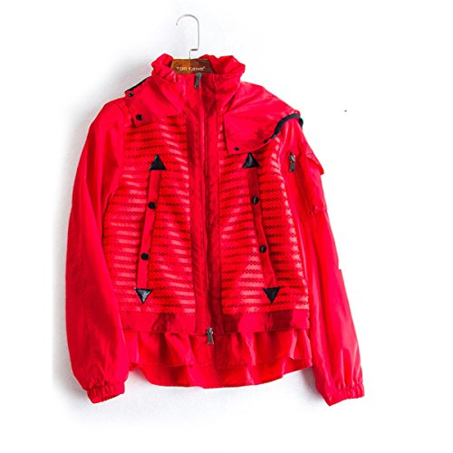 Coat Red Party And Ms Birthday Autumn Section Attend Short Personality Winter Travel Loose Party Thin ManRiya Jacket UqafTxaR