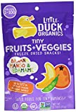 LITTLE DUCK ORGANICS Tiny Fruits & Veggies Banana; Mango & Edamame, 0.75 OZ