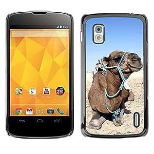 Super Stella Slim PC Hard Case Cover Skin Armor Shell Protection // M00148855 Camel Animal Closeup Desert Animals // LG Nexus 4 E960