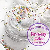 Fluffy Cloud Slime - Birthday Cake Scented - Non - Sticky Made in The USA 8 oz