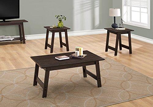 Monarch Specialties I I 7930P Table 3PCS Set, Cappuccino