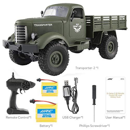 Dreamyth Military Truck JJRC Q61 RC 1:16 2.4G Remote Control 4WD Tracked Off-Road Car RTR Toy (B) -