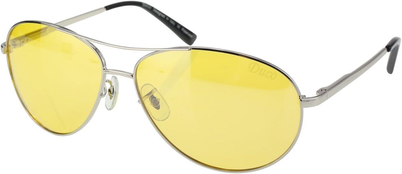 Protection 100/% UVA//UVB 2229Y Duco Lunettes de Vision Nocturne pour Conduite de Nuit Lunettes Anti-/éblouissement Lunettes Polaris/ées