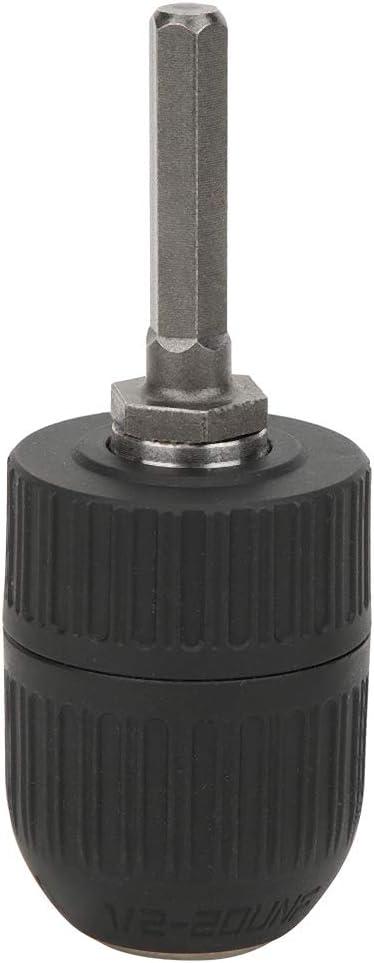 Convertidor de Adaptador de Cambio R/ápido de V/ástago Hexagonal de 1//2 Pulg Portabrocas Herramienta El/éctrica de Rosca de 2‑13Mm 1//2‑20Unf Para Taladro El/éctrico de Mano