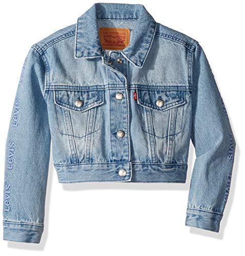 Levi's Girls' Toddler Denim Trucker Jacket, Huntley, 3T (Blue Jeans Jacket Girls)