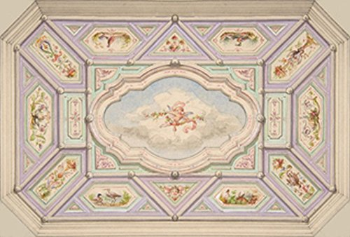 Dollhouse Wallpaper Ceiling Mural Cherub (Wallpaper Cherub)