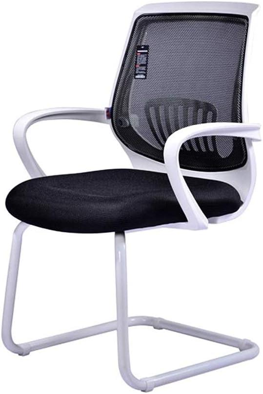 Zhou-WD 黒/白の会議の椅子、快適な通気性のスタッフの椅子丈夫な耐久性のあるオフィスの椅子多機能ホームチェア Eスポーツチェア (Color : White)