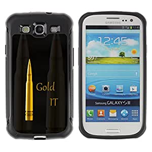 CAZZ Rugged Armor Slim Protection Case Cover Shell // Gold It Bullet // Samsung Galaxy S3