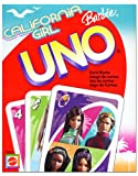 CALIFORNIA GIRL BARBIE UNO Card Game