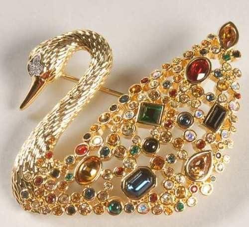 Swarovski Centenary Swan Brooch