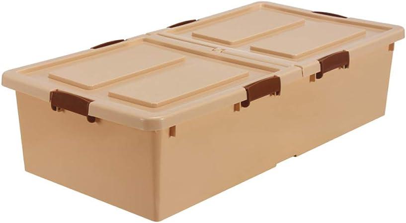 WYCD Caja De Almacenamiento Multiusos Bajo Cama con Tapa Y Ruedas Cajas De Almacenaje,BrownSmall: Amazon.es: Hogar