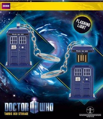 - Doctor Who Memory Stick - TARDIS 4GB USB Key Chain with Flashing Blue LED Light