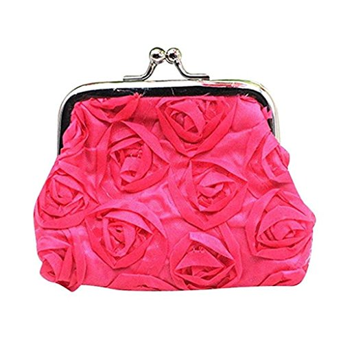 Womens Clearance Wallet Clutch Hot Bag Rose Wallet 2018 Flower Pink Wallet Purse Small Noopvan Sale Coin Handbag qx0wCpq