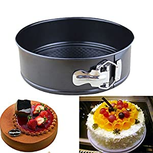 """10 Inch Non-stick Cake Pan favose Stainless Steel Live Bottom Cake Pans Mold"" shopping"