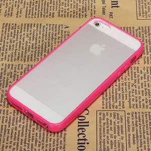 Rose Soft Tpu Bumper With Matte Clear Hard Back Case Cover For Apple Iphone 5 5Th