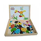 Board - SODIAL(R)Fantastic Wooden Easel Magnetic Doodle Drawing Board Drawing Blackboard Toy For Children