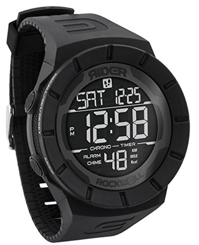 Rockwell Time RCP-102 Coliseum Pedometer Digital Dial Watch, Black by Rockwell Time