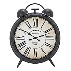 Benzara Woodland Imports Classic Metal Wall Clock Embodied with Exact Reproduction of Kensington Station Clock