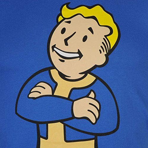 Character Herren Fallout 4 T Shirt Leicht Kurzarm Rundhals Print Baumwolle Crossed Arms UK Extra Large
