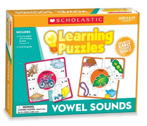 Scholastic Teacher's Friend Vowel Sounds Learning Puzzles, Multiple Colors (TF7153) by Scholastic Teaching Resources (February 01,2011)