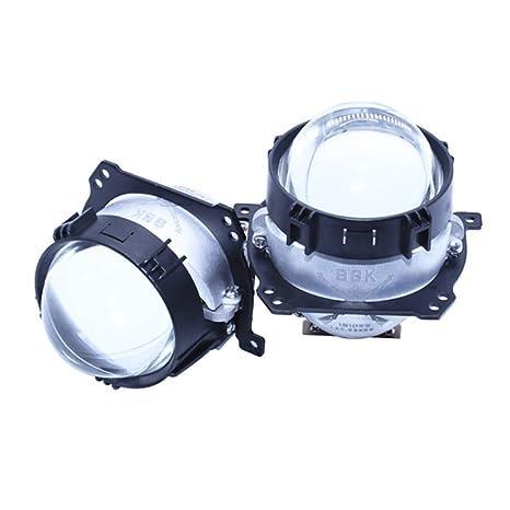 AIJICHE 2.5 Pulgadas Modelo de Coche Doble Lente LED proyector LED ...