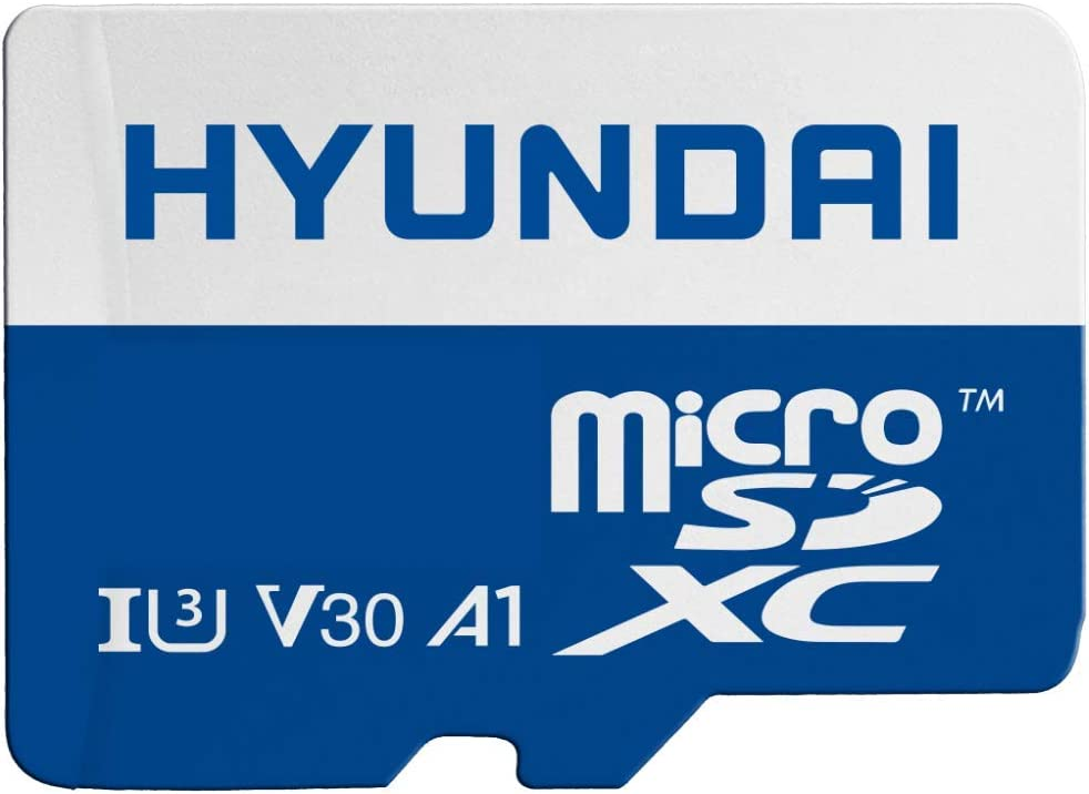 Hyundai 128GB Micro SD Card (MicroSDXC) UHS-1 Memory Card with Adapter, 95MB/s (U3) 4K Video, Ultra HD, A1, V30 (SDC128GU3)