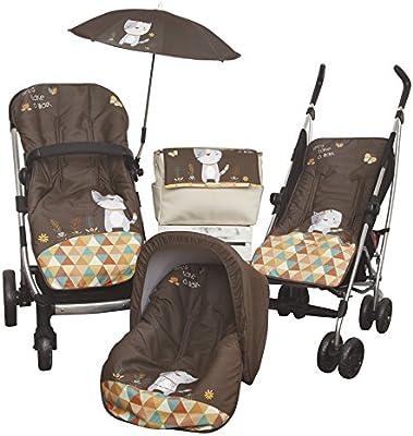 Babyline Kitty - Colchoneta para silla de paseo, color choco: Amazon.es: Bebé
