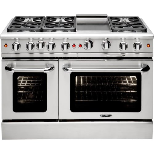 Capital Cooking MCR486G-N 48 Inch Wide 7.6 Cu. Ft. Free Standing Natural Gas Ran, Stainless Steel (Capital 48 Inch Natural)