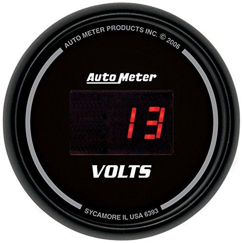 Auto Meter 6393 Sport Comp Digital 2-1/16'' 40408 Volts Digital Voltmeter by Auto Meter (Image #1)