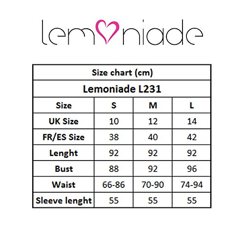 Manches Bleu L231 Lemoniade Femmes Marine Robe Longues BnxOEq