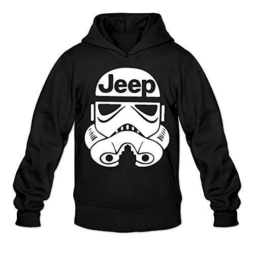 Jeep Storm Trooper Classic Men's Hooded Hoodies Black L for $<!---->