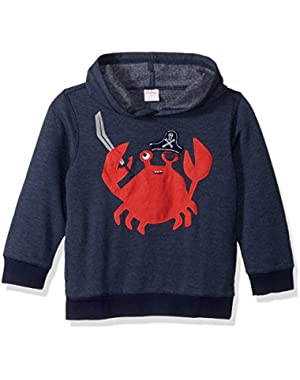 Baby Toddler Boys' Stripe Crab Hoodie