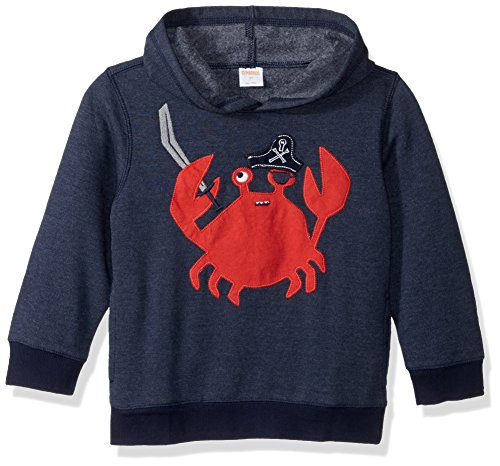 Gymboree Baby Toddler Boys' Stripe Crab Hoodie, Multi, 3T