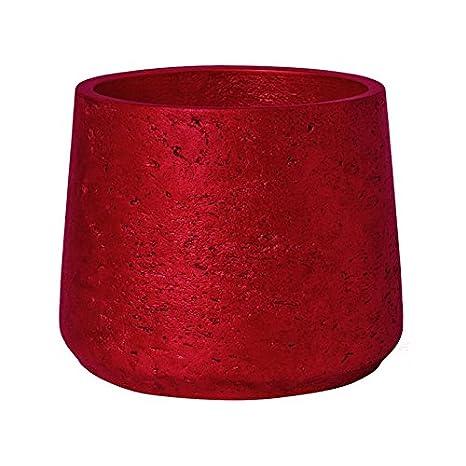 christmas planter pot metallic red patt medium 6h x 7 x 7quot