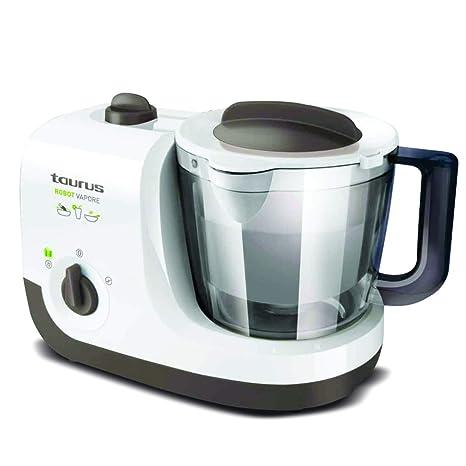Taurus 925004000 Robot Al Vapor, 750 W, 1.7 litros, 0 Decibelios, PU|Plástico sin BPA|Acero Inoxidable