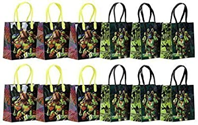 "TMNT Teenage Mutant Ninja Turtles Party Favor Goodie Gift Bag - 6"" Small Size (12 Packs)"