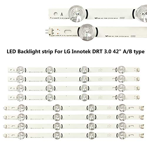 LG 47lb5800 47lb5900 47lb6100 47lb6300 47gb6500 lc470duh LED Backlight Strips Complete Set Double Side Adhesive Tape Included