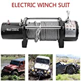 Heavy Duty Electric Winch 12v Capacity 13500lb (6124kgs) 4x4 Off Roading Vehicles Recovery Wireless Remote Control UTV Trailer Truck Ca